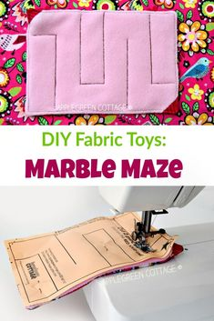 Make a fun diy marble maze using this free sewing template and tutorial - quick and easy! A great diy toy for kids and a popular diy fidget toy for adults. This marble maze toy is a great diy present - get your free pattern now! Diy Marble, Marble Maze, Diy Fidget Toys, Diy Toys, Fabric Toys Diy, Fidget Tools, Fabric Crafts, Sewing Patterns Free, Free Sewing
