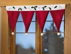 Christmas Window Decorations | window decorations, christmas crafts | Upside down Santa or elf hats