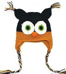 Orange & Black Owl Hat $15.00 Shop at www.urban-paisley.com #kidsstuff #smile #socute #baby #diva #minime #babyclothes #fall #owl