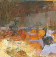 """Untitled (Series 2014, Painting 6), Oil Paint on Panel, 6x6"""" by Jenn Warpole, Mud Season Review"""