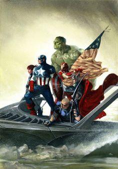 #Avengers #Fan #Art. (The Avengers) By: Gabrielle Del'Otto. ÅWESOMENESS!!!™ ÅÅÅ+