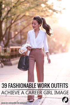 This portfolio of stylish work outfits ideas can offer inspiration to any woman, whether she works in an all-business or really casual office.