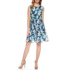a56a2bdaf47 R   K Originals Sleeveless Floral Fit   Flare Dress - JCPenney