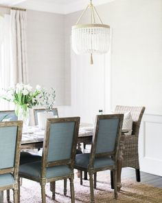 """617 Likes, 1 Comments - Lavender Hill Interiors (@lavenderhillinteriors) on Instagram: """"Loving the duck egg dining chairs. Image via @Homebunch."""""""