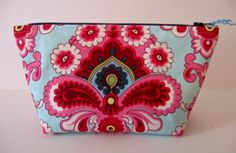 Amy Butler Floral Paisley Small Cosmetic Bag by whimsyvintage