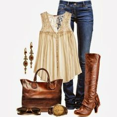 Boots, bag, jeans...perfect outfit