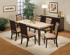 Dining Room, Great Designer Dining Tables To Beautify Your Dining Room Remarkable Designer Dinning Tables With Gray Marble Dining Table Top Also Dark Brown Polished Wooden Dining Chair With Beige Velvet Seater