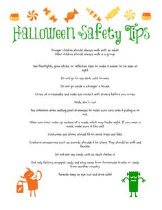 Halloween safety tips candy