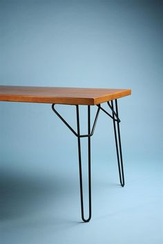 Bengt Johan Gullberg; Teak and Enameled Steel Dining Table, 1950s.