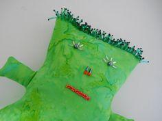 Primitive Art Doll - Green Hand Dyed Batik by T-World Design ► http://etsy.me/1uuSJYW