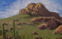 8.5X5.5 oil on paper. Tucson.