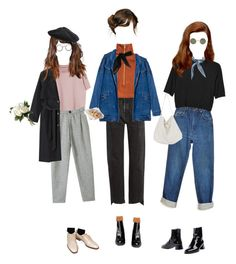 """""""Spring Is Still Chilly"""" by silentmoonchild ❤ liked on Polyvore featuring Monki, Wrangler, Vetements, H&M, Yves Saint Laurent, TC Fine Intimates, National Tree Company, Stuart Weitzman, Susan Bennis/Warren Edwards and Hansel from Basel"""