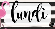 Affiches - Calendrier - Jours de la semaine - cursive.pdf Cursive, Company Logo, Days Of Week, Sunday, Calendar, Management, Posters, Board, Cursive Handwriting