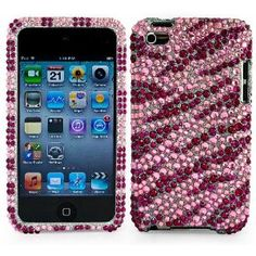 Thin Diamond Rhinestone Protective Case for New Ipod Touch 4th Generation with Camera Suitable for 8G 32G 64G