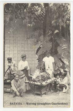 Warong (food stall) in Batavia (Jakarta) 1915