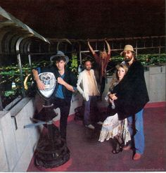 Fleetwood Mac on top the Empire State Building in NYC during the Mirage era; circa 1982.