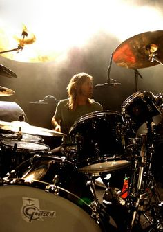 FOo fighters Taylor Hawkins and his Gretsch kit