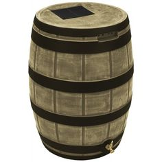 Good Ideas Rain Wizard 50 Gallon Rain Barrel - Darkened Ribs - Khaki