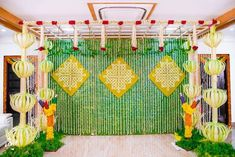 50 ideas for wedding ceremony backdrop indoor green Wedding Reception Backdrop, Wedding Stage Decorations, Backdrop Decorations, Wedding Themes, Flower Decorations, Engagement Decorations, Wedding Mandap, Backdrop Ideas, Diwali Decorations