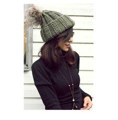 Fall Hats, Winter Hats, Chunky Wool, Hand Knitting, Beanie, Autumn, Green, Handmade, Etsy