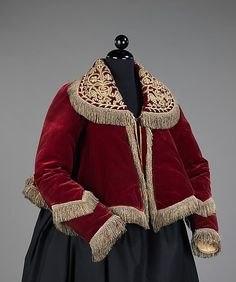 19th century Red Velvet Jacket Russia The Metropolitan Museum of Art