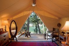 Campeggio di lusso Camping Montana - River Camp al resort a Paws Up