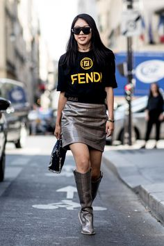 Our Favorite Street Style Couture Fall 2018 Looks - FashionFiles Bape, Balenciaga, Hypebeast Outfit, Street Style 2018, Street Styles, Fancy Tops, Animal Print Skirt, Spring Summer Trends, Couture Week