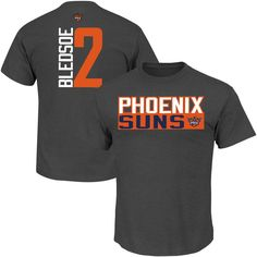 29987ca2f36 Eric Bledsoe Phoenix Suns Vertical Name   Number T-Shirt - Gray