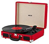 #6: Akai A60011NR Bluetooth Rechargeable Vinyl Turntable Briefcase Style Featuring Bluetooth Connectivity - Red #amazon #movers #shakers #electronics #photo
