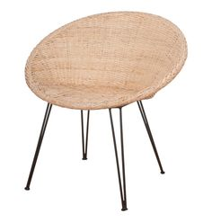 1950's Patio Chair Natural/Black