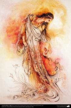 """El mismo Paraíso. 1993 Obras maestras de la miniatura persa; Artista Profesor Mahmud Farshchian, Irán"