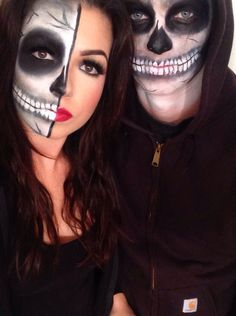 Skeleton couple. Halloween 2014 #makeupbynik