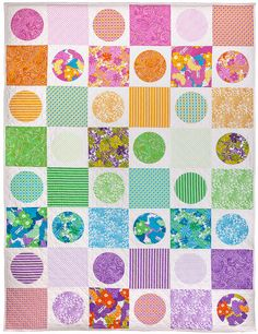 Chloe's Quilt. This pattern will be a free download once The Linen Cupboard range of fabrics is released in December. Available at www.emmajeanjansen.com.au