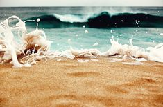 wave came crashing like a fist to the jaw - what a shot. #photography #beach