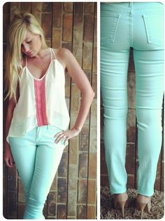 Mint denim, uploading to the shop now tab soon!