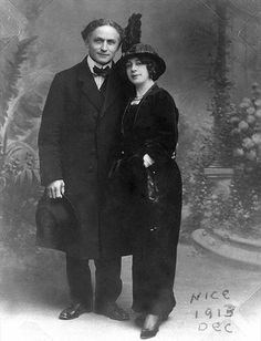Harry and Beatrice Houdini in Nice, France, 1913.