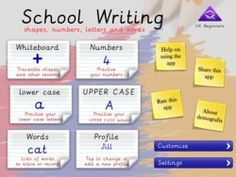 """Here's a link to a heap of handwriting apps that have been featured on our website - Jill describes School Writing (pictured) as """"A $4.99 app that fully justifies the $499 investment in an iPad every family needs to make.""""  Lisa M"""