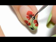 Lovely poppy design. One stroke technique for beginners. I wish to learn <3