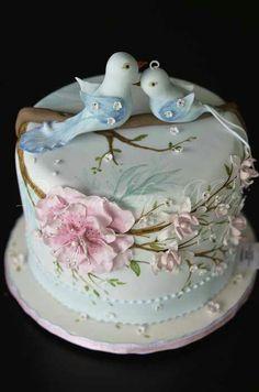 Adorable Wedding/Anniversary cake idea❣
