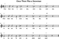 Once There was a Snowman with simple Orff acc.