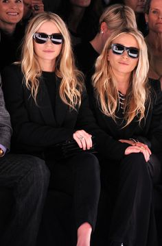 Ashley and Mary-Kate Olsen's untamed brows and honey-colored hair.