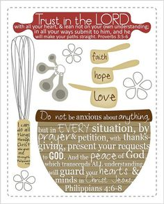 Scripture reminders for the kitchen 8 by 10 by EmilyBurgerDesigns, $20.00