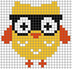Free Cross Stitch Pattern hipster retro owl with glasses Tiny Cross Stitch, Easy Cross Stitch Patterns, Cross Stitch For Kids, Cross Stitch Needles, Cross Stitch Cards, Simple Cross Stitch, Cross Stitch Designs, Cross Stitching, Pixel Pattern