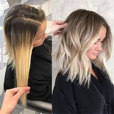 Here's Every Last Bit of Balayage Blonde Hair Color Inspiration You Need. balayage is a freehand painting technique, usually focusing on the top layer of hair, resulting in a more natural and dimensional approach to highlighting. Hair Color For Women, Hair Color And Cut, Bob Hair Color, Spring Hair Colour, Hair Color Tips, Color For Short Hair, 50 Hair, Hair Dos, Curls Hair