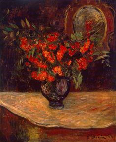 Bouquet by Paul Gauguin - Flowers, Still Life Paintings from Hermitage Museum