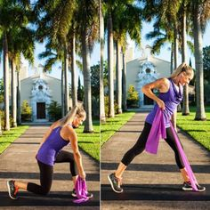 Reaching Rear Row - Total-Body Sculpting: The Resistance Band Workout - Shape Magazine - Page 6 Best Resistance Bands, Resistance Workout, Resistance Band Exercises, Skinny Abs, Toning Workouts, Band Workouts, Exercise Bands, Workout Diet, Physical Exercise