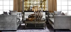 Modern grandeur living room in grays & gold | Z Gallerie