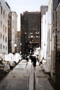 Geoffrey Johnson, Study Park Avenue - 27x18, oil on panel, Gallery ID# 16366