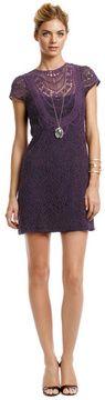 Nanette Lepore Rustic Plum Lace Dress on shopstyle.com