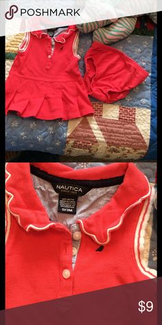 Baby Nautica Dress w/Bloomers Watermelon pink Tennis Dress with matching bloomers!  EUC !!  Nautica Dresses Casual